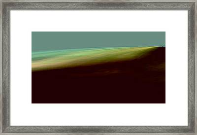 The Shore Of The Ocean Framed Print