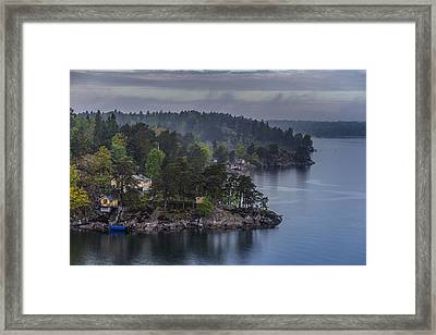 The Shores Of Norrnas Framed Print