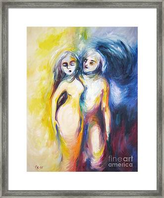 The Short Couple Framed Print by Marat Essex