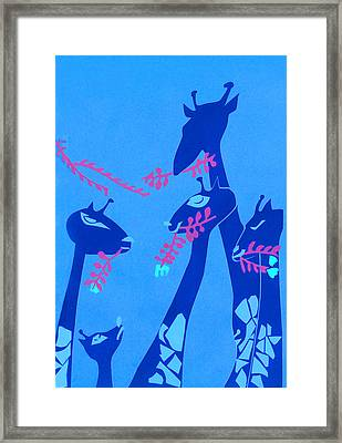 The Short Necked Giraffe 1 Framed Print by Lily Hymen