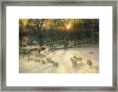 The Shortening Winters Day Is Near A Close Framed Print