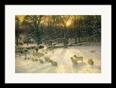 Snow Paintings Framed Prints
