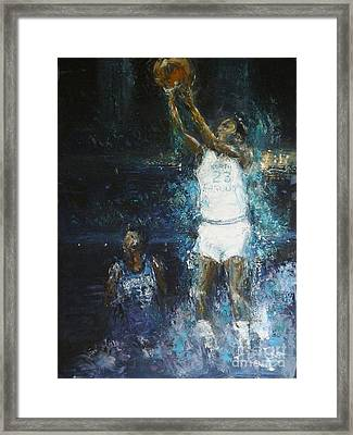 The Shot Framed Print by Dan Campbell