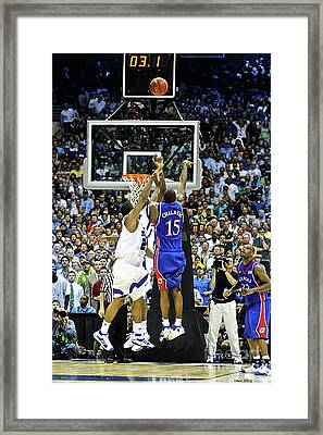 The Shot, 3.1 Seconds, Mario Chalmers Magic, Kansas Basketball 2008 Ncaa Championship Framed Print by Thomas Pollart