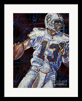 Miami Dolphins Drawings Framed Prints