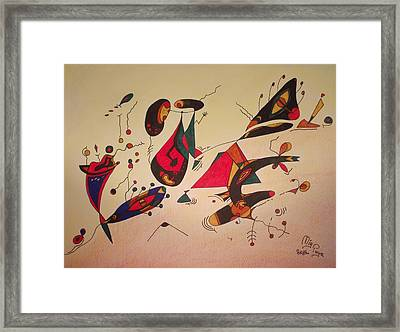 The Show Is Going On Framed Print by Michael Puya