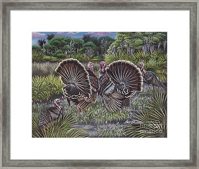The Showoffs Framed Print by Monica Turner