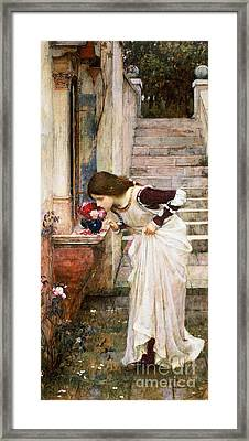 The Shrine Framed Print by John William Waterhouse