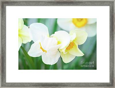 The Shy Couple Framed Print