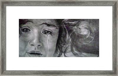 The Shy Cry Girl Framed Print