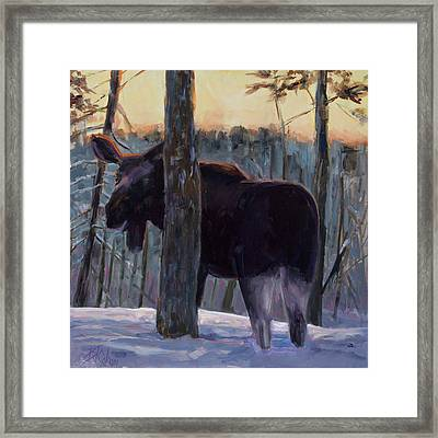 Framed Print featuring the painting The Shy One by Billie Colson