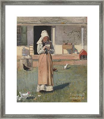 The Sick Chicken, 1874  Framed Print