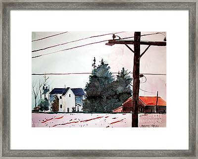 The Side Road Home Framed Print