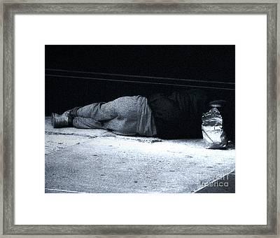 Framed Print featuring the photograph The Sidewalks Of New York by RC deWinter