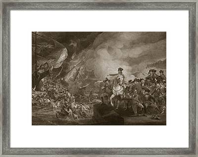 The Siege And Relief Of Gibraltar Framed Print by John Singleton Copley