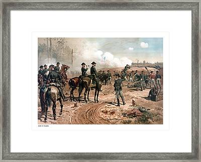 The Siege Of Atlanta Framed Print