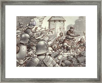 The Siege Of Rhodes Of 1522  Framed Print by Pat Nicolle