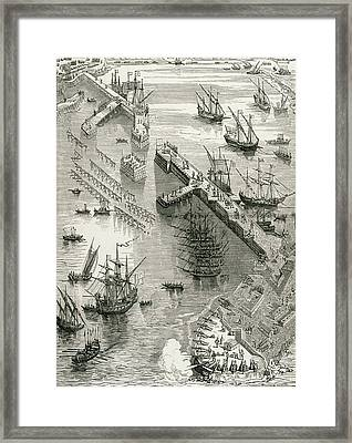 The Siege Of Rochelle Framed Print by French School