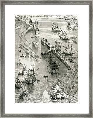 The Siege Of Rochelle Framed Print