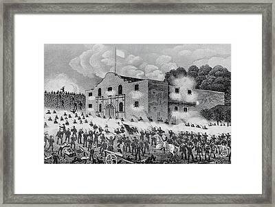 The Siege Of The Alamo Framed Print