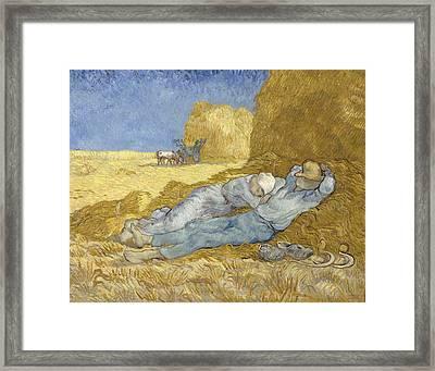 The Siesta, After Millet, 1890 Framed Print by Vincent Van Gogh