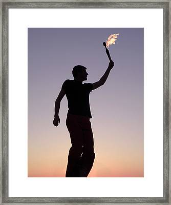 The Signal Framed Print by Gerard Fritz