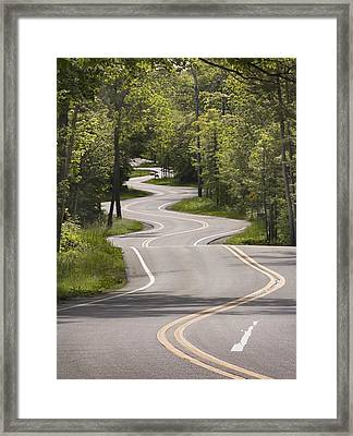Framed Print featuring the photograph The Signature Road by Barbara Smith