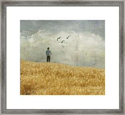 The Silence In Between Framed Print