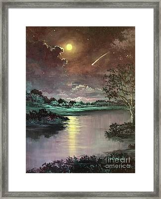 The Silence Of A Falling Star Framed Print