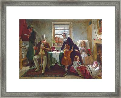The Silence Of Pure Innocence Persuades Where Speaking Fails Framed Print by Thomas Brooks