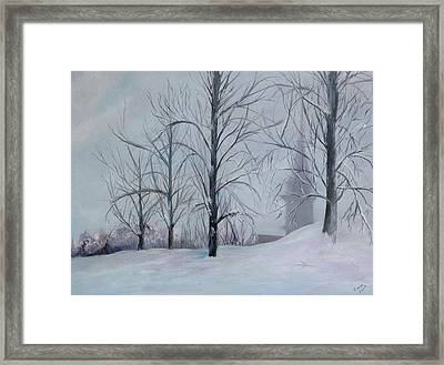 The Silence Of Snow Framed Print by Betty Pimm