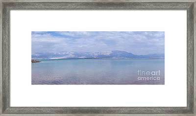 Framed Print featuring the photograph The Silence Of The Dead Sea by Yoel Koskas