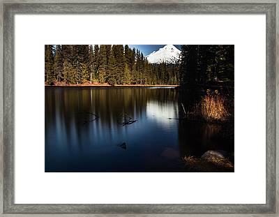 The Silence Of The Lake Framed Print