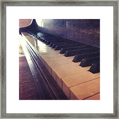 The Silence Of You #music #instapics Framed Print by Joan McCool