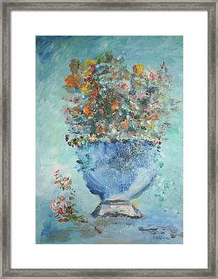 The Silver Bowl Vase Framed Print by Edward Wolverton