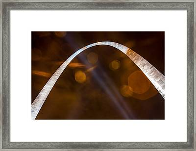 The Silver Gateway Arch Framed Print