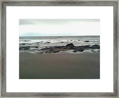The Silver Sky Ignores The Shipwreck Framed Print