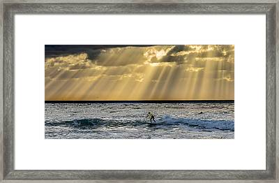 The Silver Surfer Framed Print by Peter Tellone