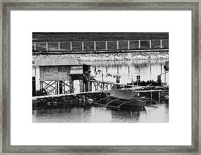 The Simple Life In Living Black And White Framed Print