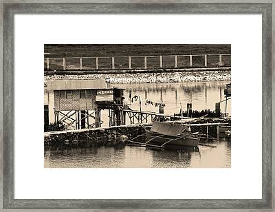 The Simple Life In Living Sepia Framed Print
