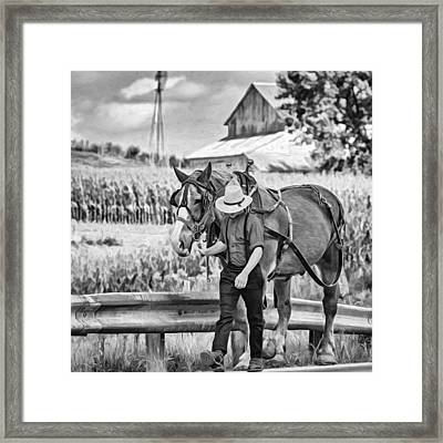 The Simple Life - Paint Bw Framed Print
