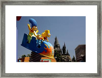 The Simpsons Do Hogwarts Framed Print