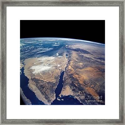 The Sinai Peninsula And The Dead Sea Framed Print