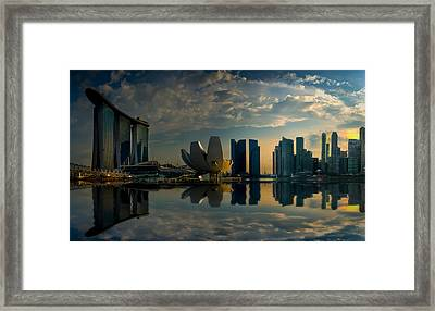 The Singapore Skyline Framed Print