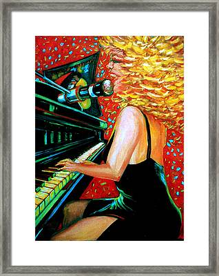 The Singer At Shuckers Framed Print