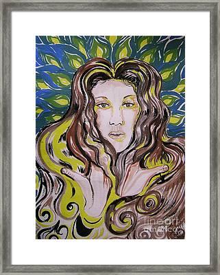 The Singer Of Paradise. Celine Dion Framed Print