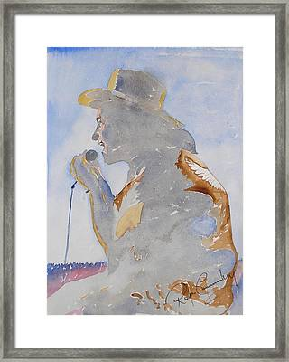 The Singer Framed Print by Roger Cummiskey