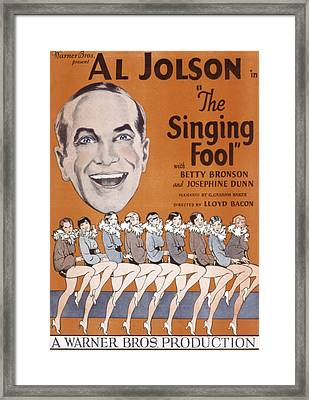 The Singing Fool, Al Jolson, 1928 Framed Print