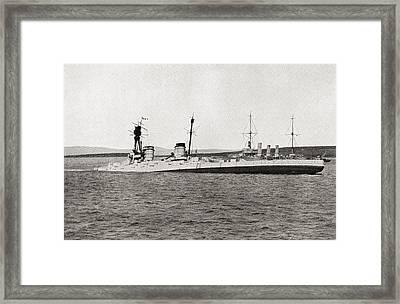 The Sinking Of The German Battlecruiser Framed Print