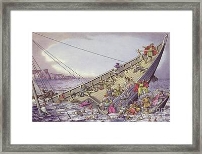 The Sinking Of The White Ship Framed Print